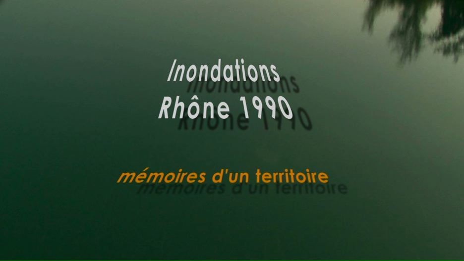 Inondations Rhône 1990