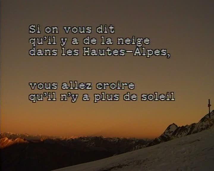 Hautes-Alpes, neige et soleil (Les)