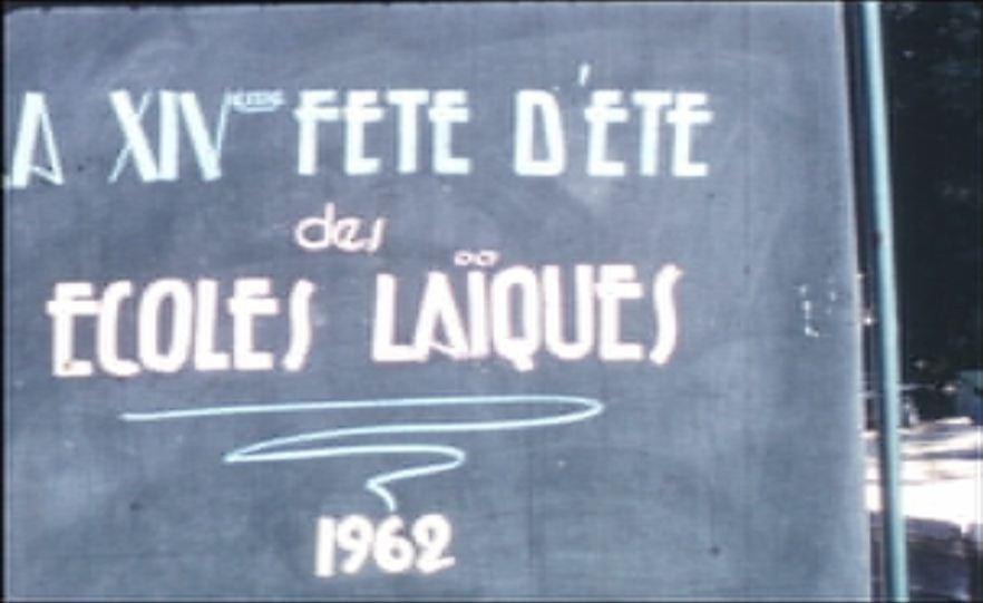 XIVeme fête d'été des Ecoles laïques, 1962 (La)