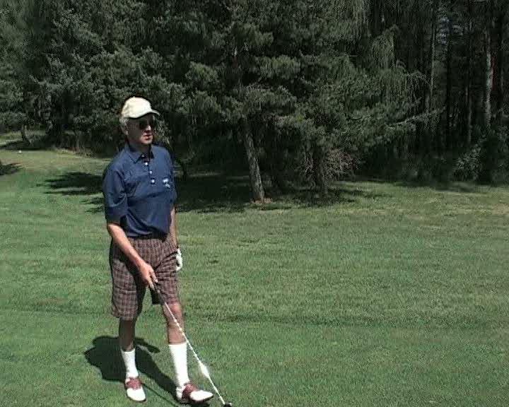 Nelson Monfort au golf de Gap-Bayard