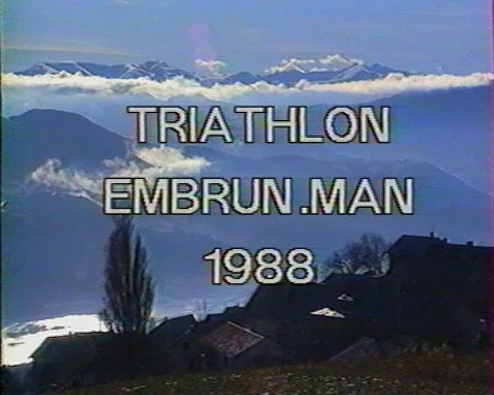 Triathlon Embrun.man 1988