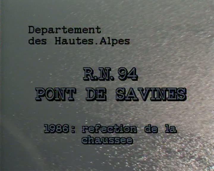 RN 94 Pont de Savines