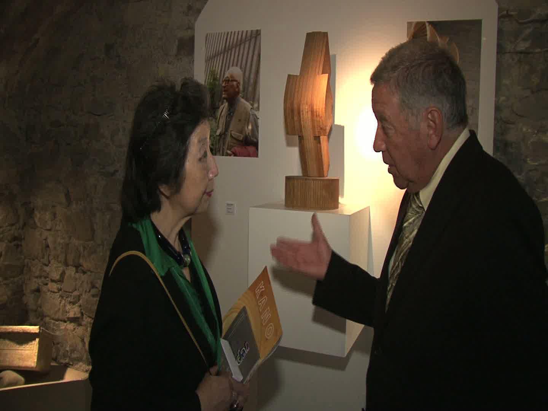 Vernissage de l'exposition consacrée à Minoru Kano