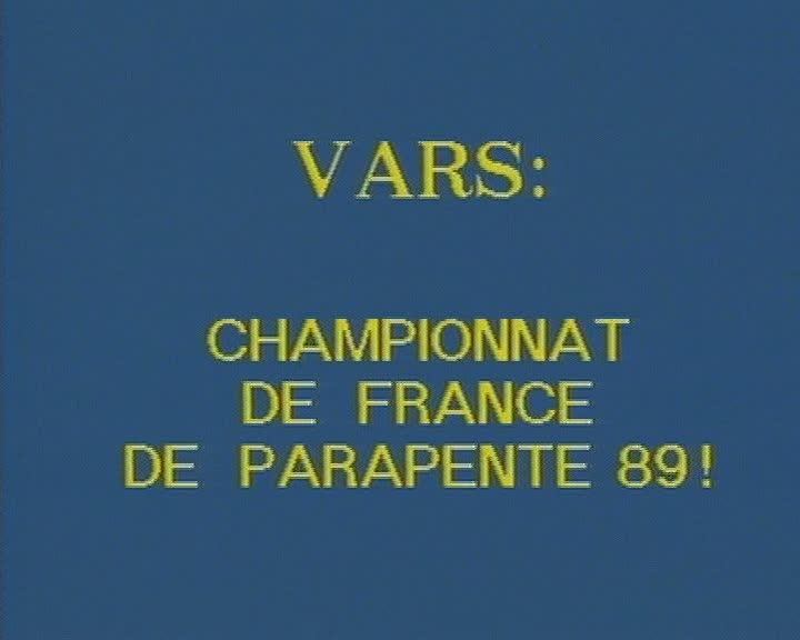 Vars : championnat de France de parapente 89 !