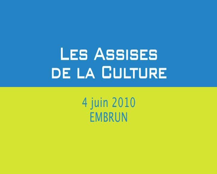 Assises de la Culture (Les)