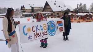 Ambiance Stations villages avec l'animation Cocktail de Neiges