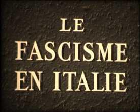 Fascisme en Italie (Le)