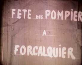 Fête des pompiers à Forcalquier