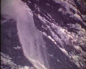 Coulée de neige dans les Ecrins