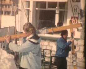 Pâques 1958 à la neige