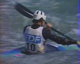 Une sélection d'images de la Coupe de France de kayak (slalom) en 1995