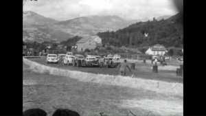 Gymkhana automobile au stade